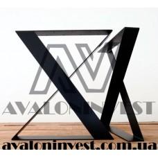 Ножки для стола Кросс Блек из металла