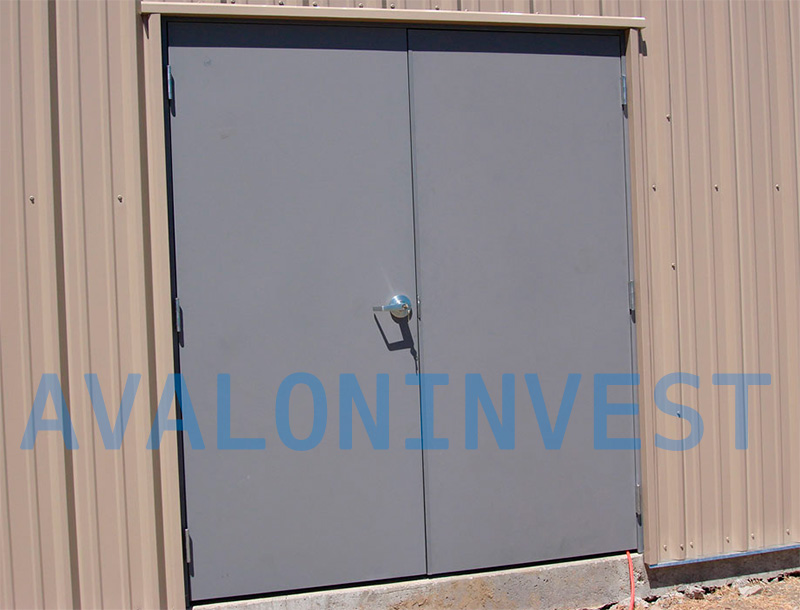 изготовление двустворчатых металлических дверей