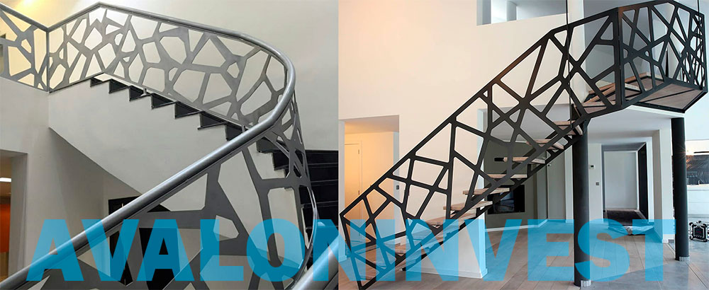 лазерная резка перил и лестниц