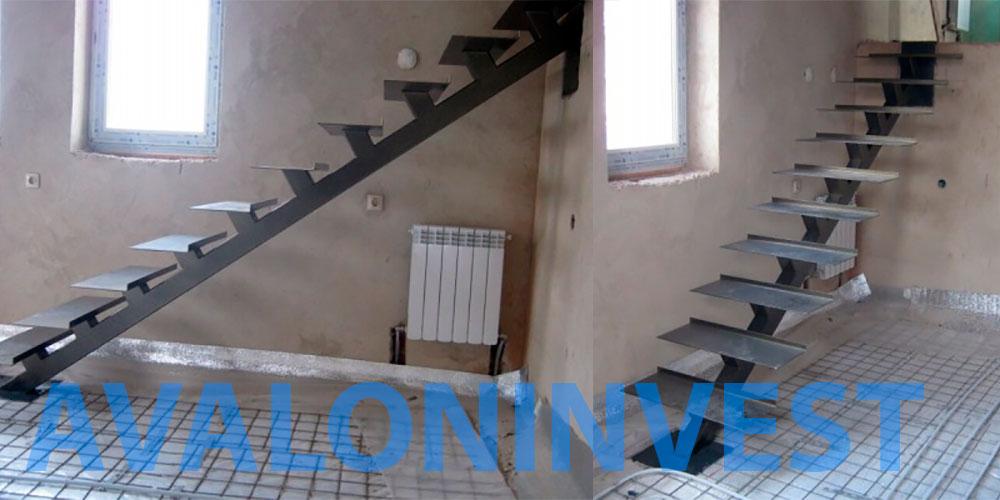 Каркас лестницы из металла