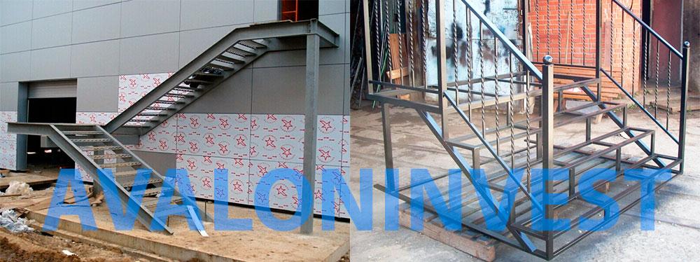 металлические уличные лестницы