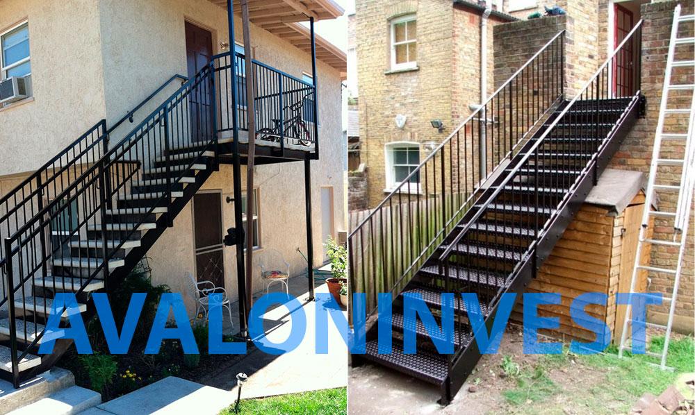 изготовление уличных лестниц