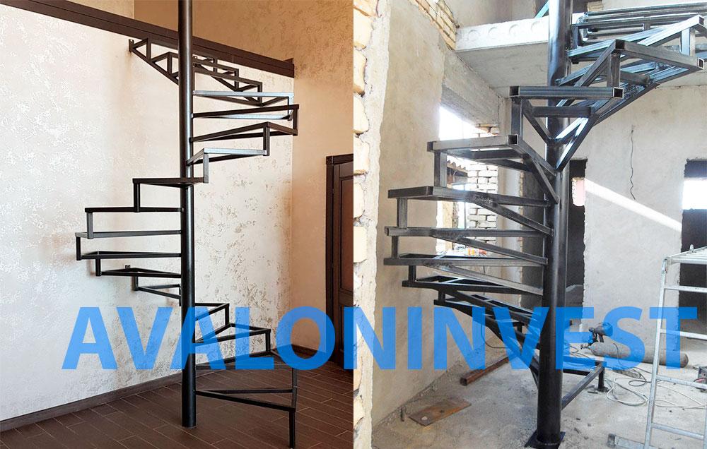 Винтовые лестницы на металлическом каркасе