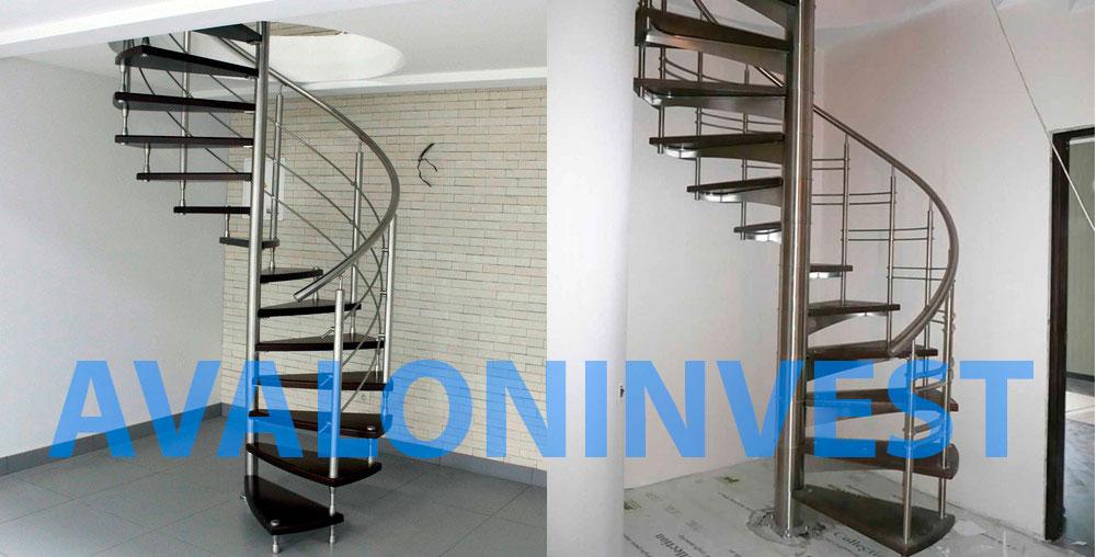 Винтовые лестницы из нержавейки