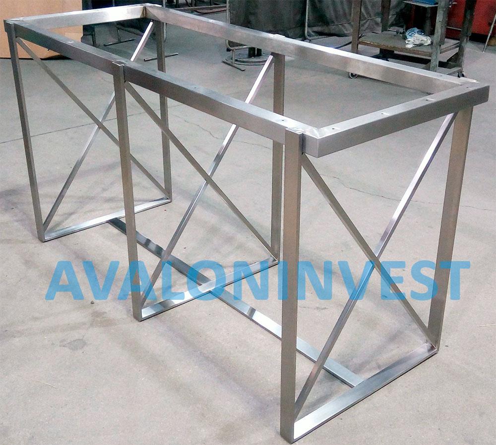 изготовление каркасов столов из металла